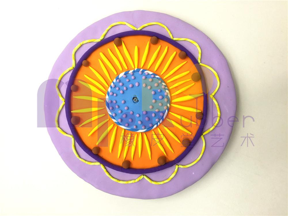 儿童手工制作表盘图片